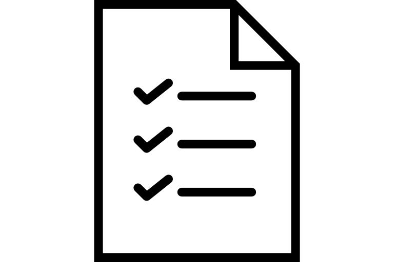 list with checkmarks next to each item