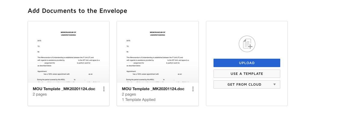 Document Upload Screen Grab